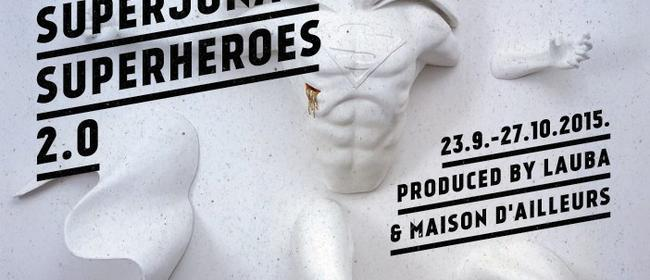 Superheroes 2.0 exhibition at Lauba