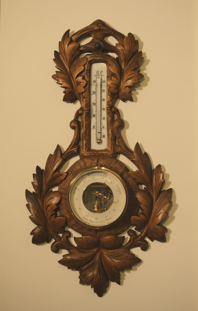 Viennese weather station clock